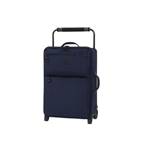 "IT Luggage 21.8"" World's Lightest Los Angeles 2 Wheel Carry On, Navy/Blue"