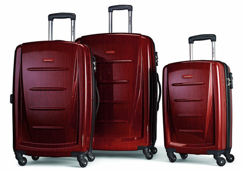 Samsonite Winfield 2 Hardside Luggage, Burgundy, 3-Pc Set (20/24/28)