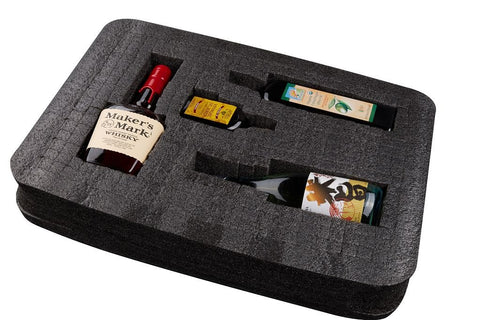 VinGardeValise Wine XL 750ml Insert (One Size, Grey)