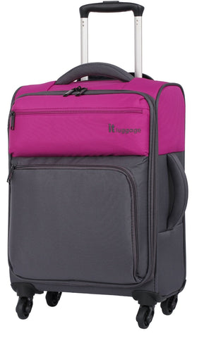 "it luggage Duotone 4 Wheel Luggage Spinner (18"", Fuchsia/Magnet)"