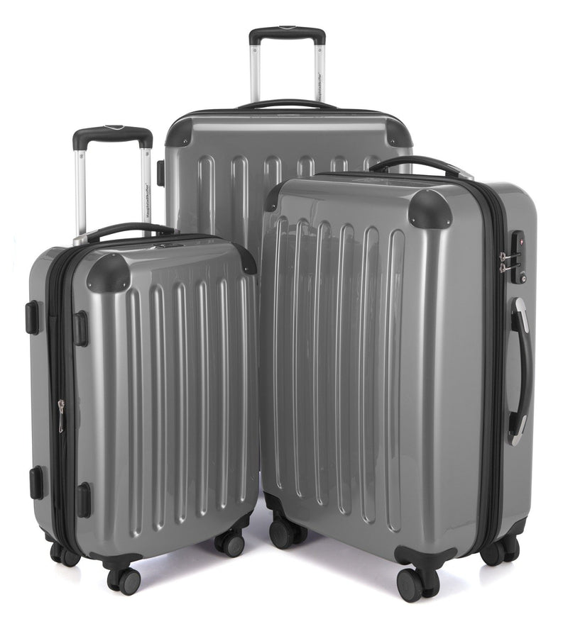 HAUPTSTADTKOFFER Luggage Sets Alex UP Hard Shell Luggage with Spinner Wheels 3 Piece Suitcase TSA Silver