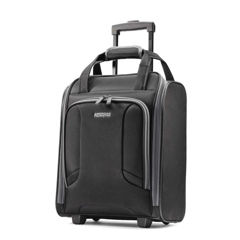American Tourister Rolling Tote Travel, Black/Grey, One Size