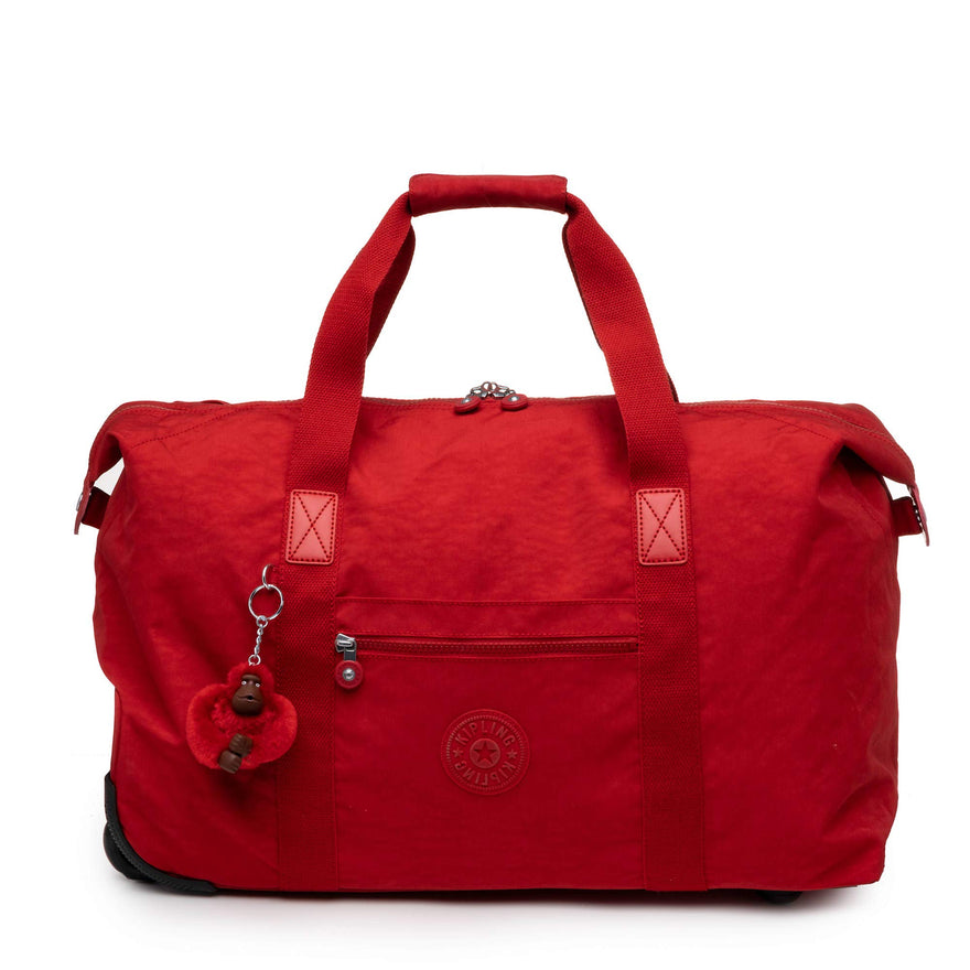 Kipling Art Wheeled Luggage, Carry On, Top Zip Closure, Cherry