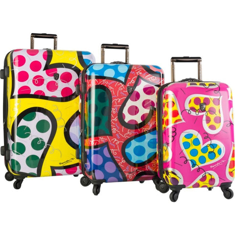 Heys America Britto Spinner - 3 Piece set (Hearts Carnival)