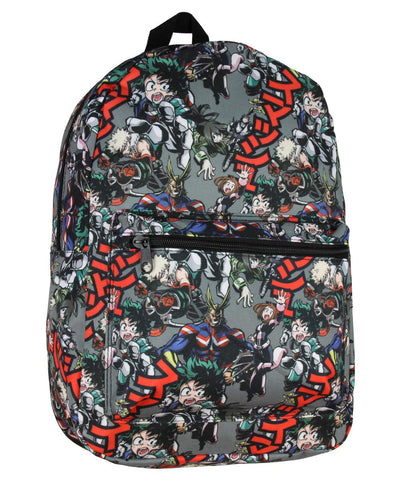 My Hero Academia Character All Over Sublimated Backpack School Bag