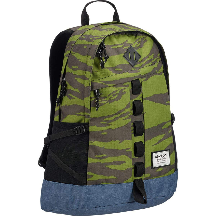Burton Shackford 24L Backpack Keef Tiger Ripstop Print, One Size