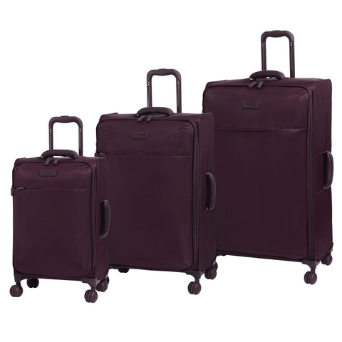 it luggage Lustrous Expandable Lightweight 3 Piece Set, Aubergine