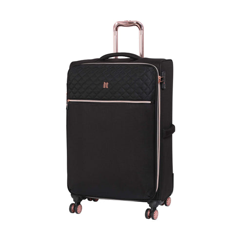 it luggage Divinity 8 Wheel Lightweight Semi Expander Medium With Tsa Lock Suitcase, 70 cm, 90 L, Black