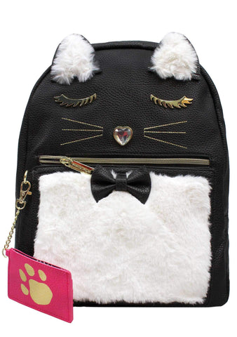 Betsey Johnson Women's Kitsch Backpack Black/Cream One Size