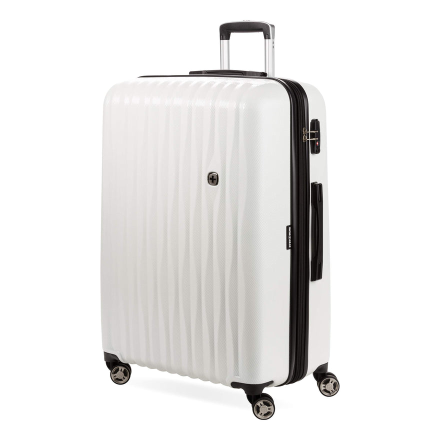 "SWISSGEAR 7272 27"" Energie Hardside Polycarbonate Spinner Luggage - White"