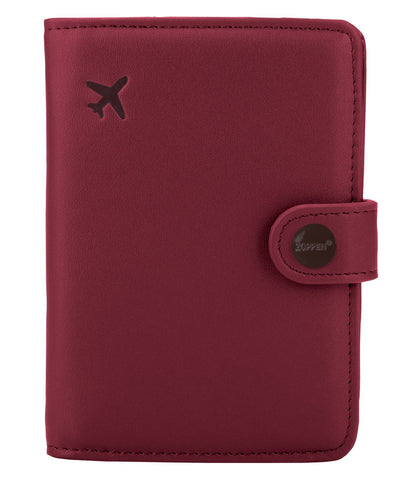 Zoppen Rfid Blocking Travel Passport Holder Cover Slim Id Card Case(#7 Wine Red/Burgundy)