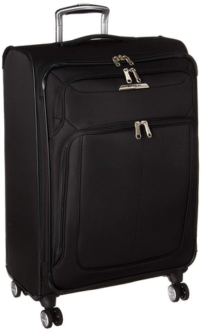 Samsonite SoLyte DLX Softside Luggage, Midnight Black, Checked-Medium