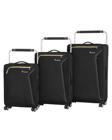 it luggage World's Lightest Accent 8 Wheel 3 Piece Set, Black