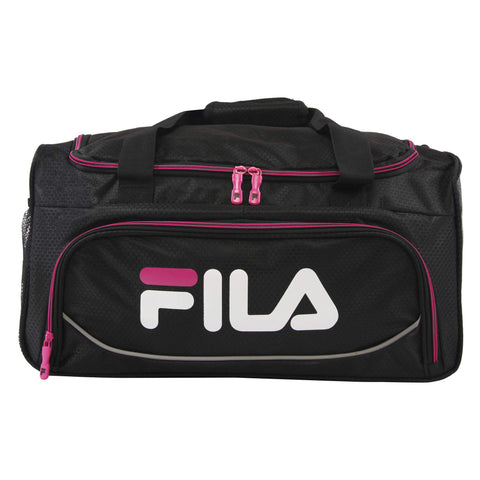 Fila Kelly 19-in Sports Duffel Bag, Black Fuchsia, One Size