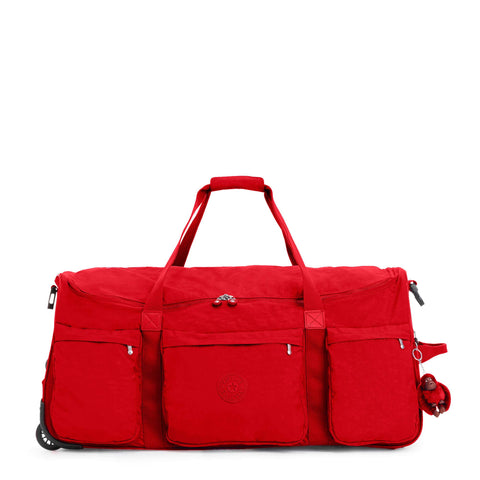 Kipling Unisex-Adult's Discover Large Wheeled Duffle, Telescoping Handle, Zip Closure, cherry tonal