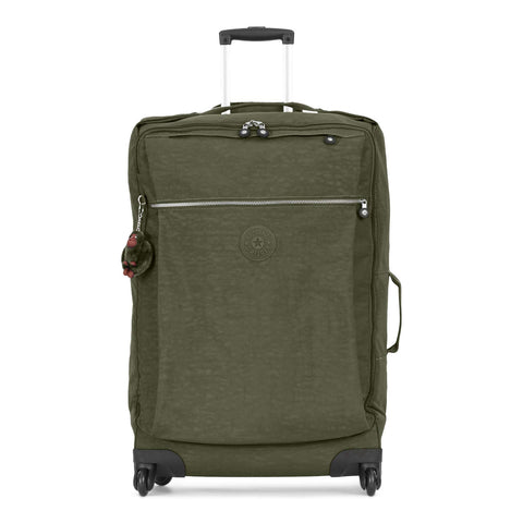 Kipling Unisex-Adult's Darcey Large Wheeled Luggage, Jaded Green
