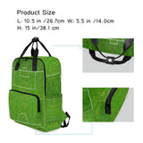 Backpack Half Of Football Field Or Soccer Laptop Bag 14 Inch Lightweight for Men/Women
