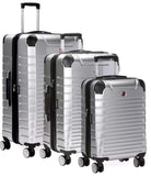 SWISSGEAR 7782 EXPANDABLE 3PC HARDSIDE LUGGAGE SET - SILVER