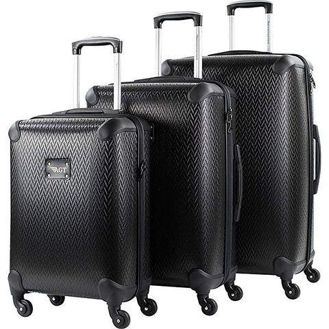 American Green Travel Vero 3 Piece Hardside Spinner Luggage Set (Black)