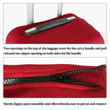 Washable Luggage Cover Spandex Suitcase Cover Protective Fits 19-32inch Luggage Zipper Carry On Covers Wine Red