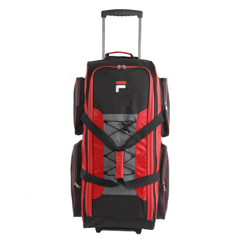 "Fila 32"" Large Lightweight Rolling Duffel Bag, Red, One Size"