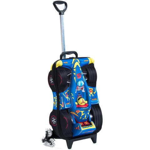 Maxi's Designs Super Power F1 3D Rolling Suitcase