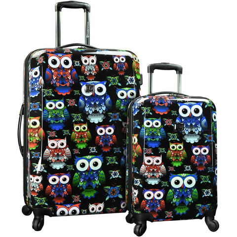 Traveler's Choice Owl 2 Pc Expandable Spinner Set