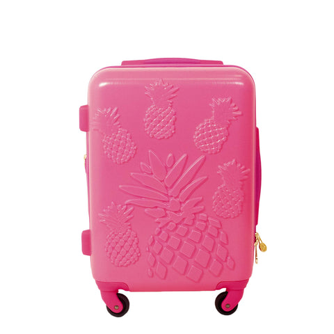 "Macbeth Collection Women's Pineapple 21"" Spinner Luggage, Magenta"