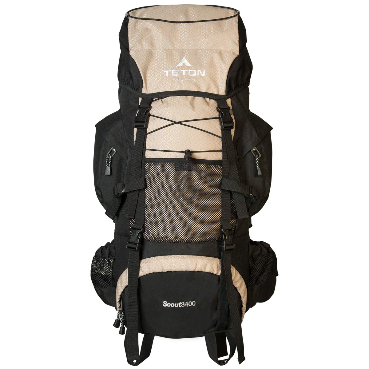 TETON Sports Scout 3400 Internal Frame Backpack; High-Performance Backpack for Backpacking, Hiking, Camping; Tan