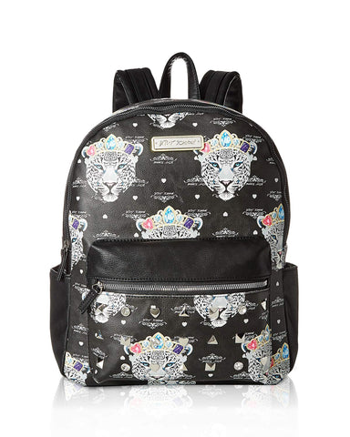 Betsey Johnson Women's Snow Queen of the Jungle Print Backpack Black/Multi One Size