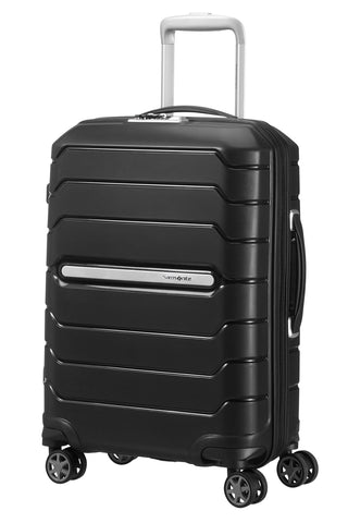 SAMSONITE Flux - Spinner 55/20 Expandable Hand Luggage, 55 cm, 44 liters, Black
