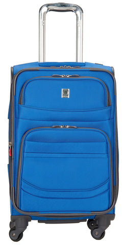 Delsey Luggage D-Lite Softside 21-Inch Carry-On Lightweight Expandable Spinner (Blue)
