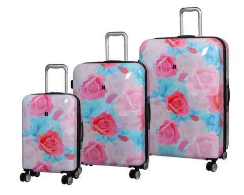 IT Luggage Sheen Hardside Expandable Spinner 3 Piece Set (Light Pink Maxy Rose)