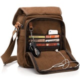Berchirly Small Messenger Bags, Vintage Men's Canvas Shoulder Crossbody Sling Hiking Bag Satchel Everyday use