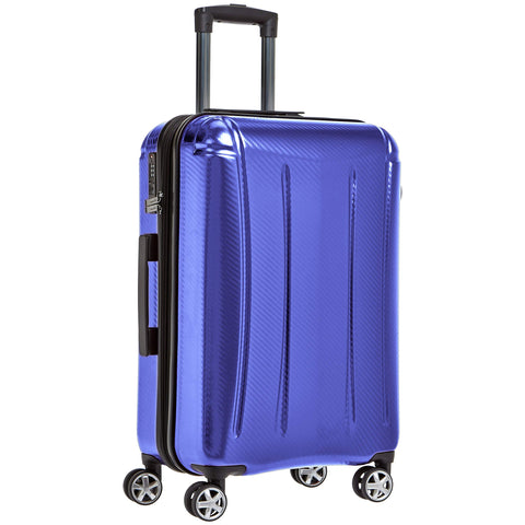 AmazonBasics Oxford Expandable Spinner Luggage Suitcase with TSA Lock - 24 Inch, Blue