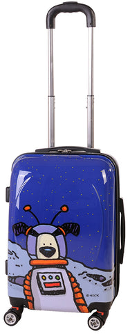 Ed Heck Moon Dog Hardside Spinner Luggage 21 Inch, True Blue, One Size