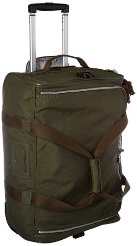Kipling Unisex-Adult's Discover Small Wheeled Duffle Bag, Jaded Green