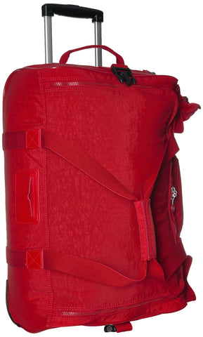 Kipling Unisex-Adult's Discover Small Wheeled Duffle, Telescoping Handle, Zip Closure, cherry tonal