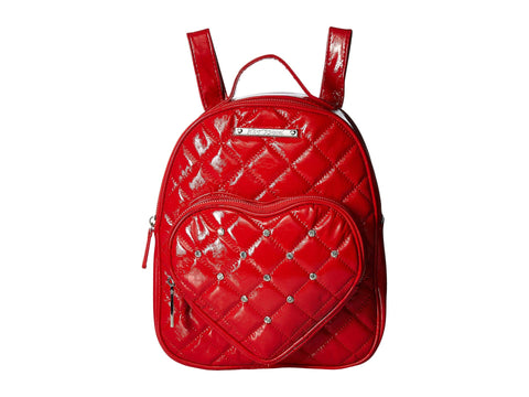Betsey Johnson Women's Heart Pocket Backpack Red One Size