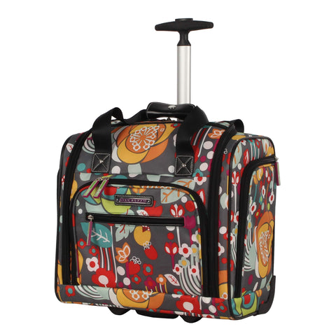 "Lily Bloom 15"" Under the Seat Design Pattern Carry on Bag With rolling Wheels (One Size, Bliss)"