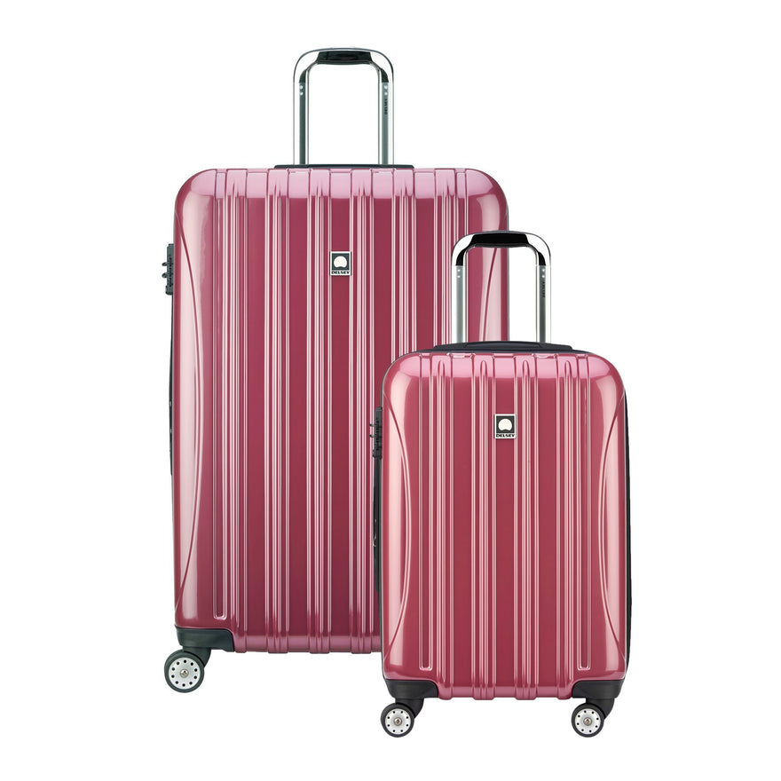 "Delsey Luggage Helium Aero Spinner Luggage Set (21""/29""), Peony"
