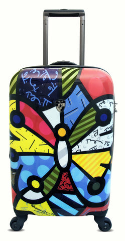 Heys USA Luggage Britto Butterfly 22 Inch Hardside Carry-on Spinner, Butterfly, 22 Inch