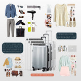 Coolife Luggage Expandable Suitcase PC+ABS 3 Piece Set with TSA Lock Spinner 20in24in28in