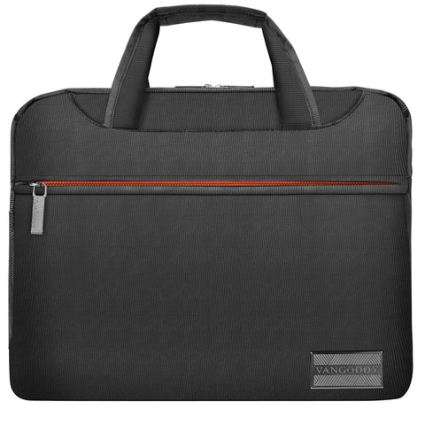 13 inch Nylon Shoulder Bag College Satchel Grey and Orange for HP Chromebook, EliteBook, Envy, Pro Slate 12, ProBook, Spectre x360, Stream 11.6 inch 12.5 inch 13.3 inch Tablet Laptop