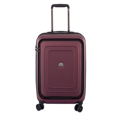 "DELSEY Paris Luggage Cruise Lite Hardside 21"" Carry on Exp. Spinner with Front Pocket, Black Cherry"