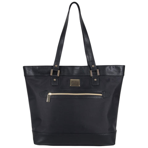 "Kenneth Cole Reaction Women's Runway Call Nylon-Twill Top Zip 16"" Laptop & Tablet Business Tote, Black"