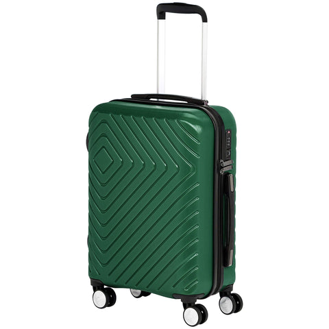 AmazonBasics Geometric Luggage 18-inch international carry-on, Green