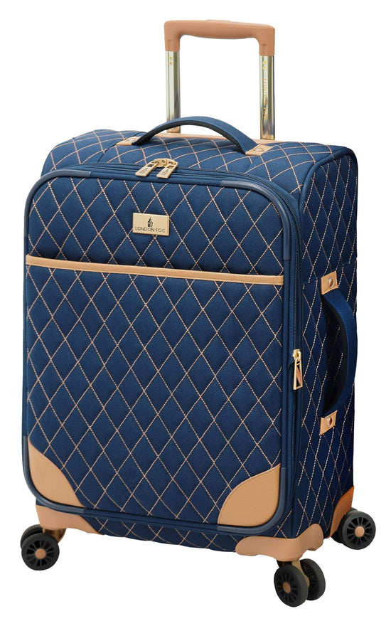 "London Fog Queensbury 20"" Spinner Carry-On, Navy"