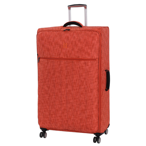 "it luggage 34.4"" Stitched Squares 8 Wheel Lightweight Spinner, Orange"