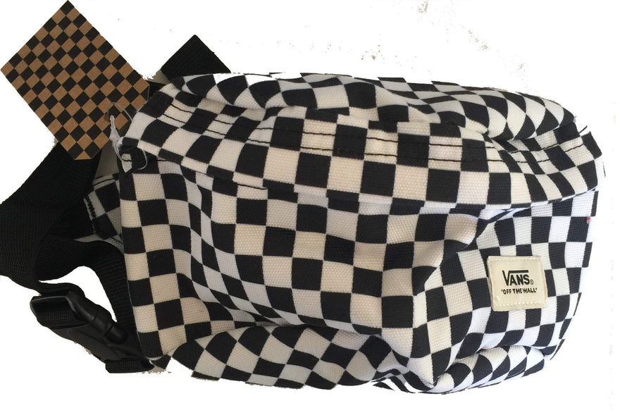 Vans Black and White Checkerboard Waist Pack Fanny Hip Unipack Backpack